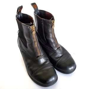 Ariat Front Zip Leather Riding Ankle Boots 7.5